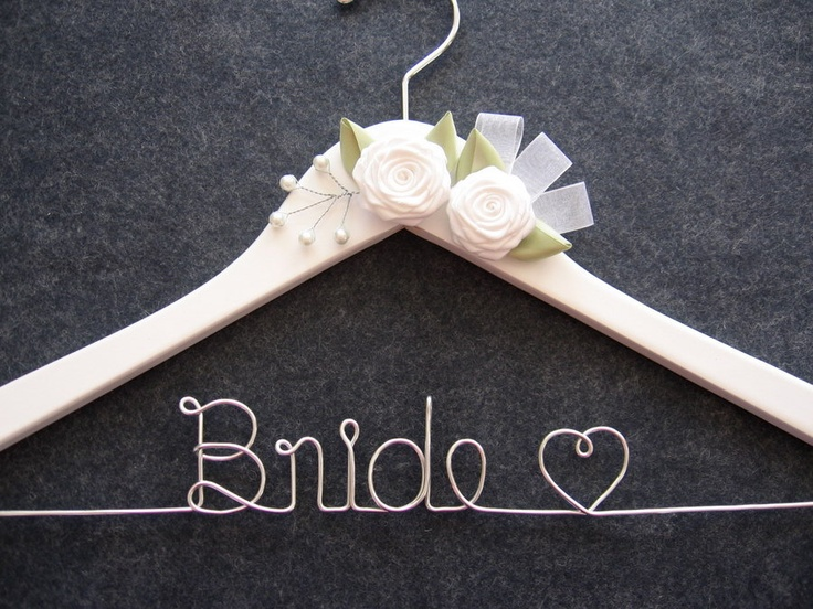 Rush order white bridal hanger personalized wedding for Mrs hangers wedding dress