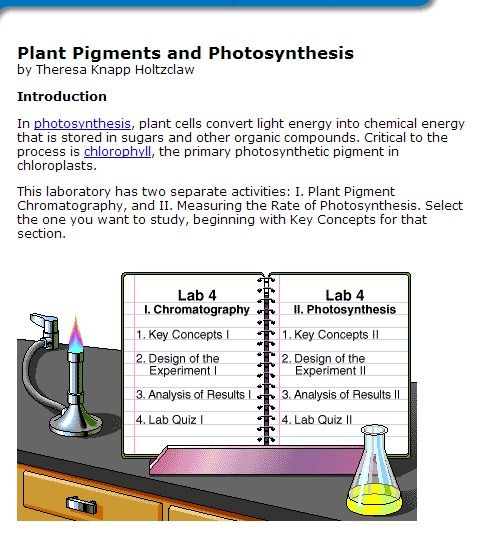 pigments and photosynthesis Use a colorimeter to determine the rate of photosynthesis in a suspension of chloroplasts.
