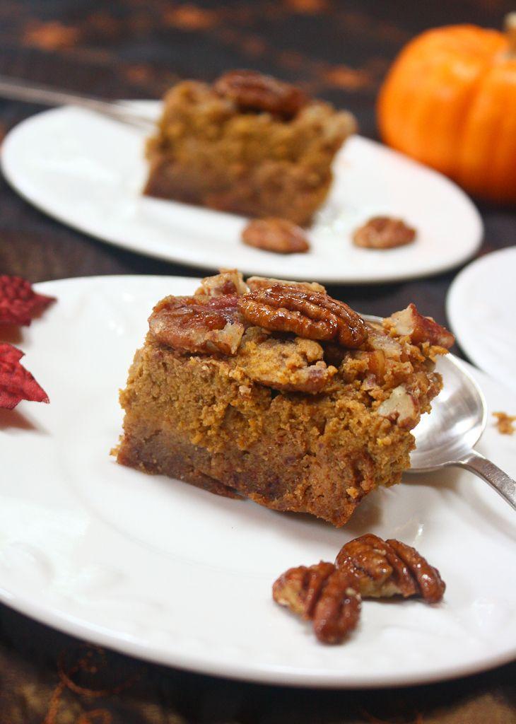 Paleo Pumpkin Pie Bars | Paleo Desserts | Pinterest
