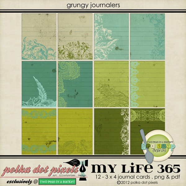 pea soup march - my life 365 - grungy journalers by Polka Dot Pixels ...