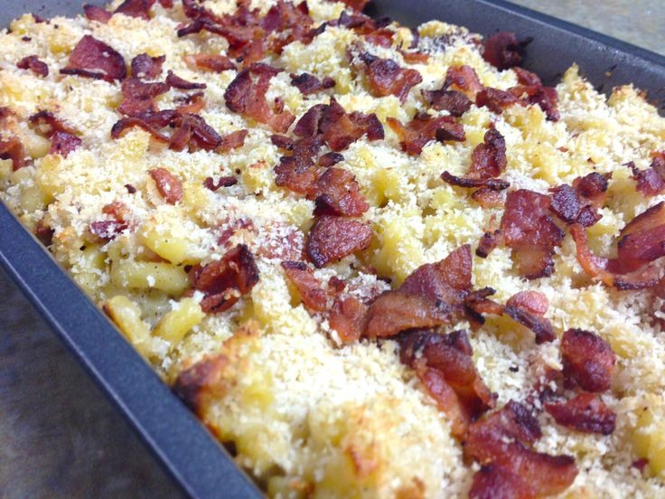 Bacon Cheddar Mac & Cheese | Bacon Creations | Pinterest