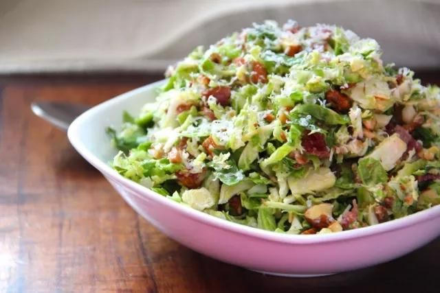 Shredded Brussels Sprout Salad with Citrus Vinaigrette | Recipe