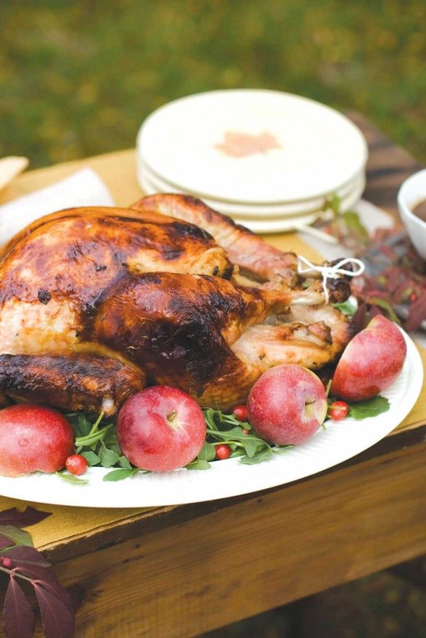brined turkey with savory herb gravy cider brined turkey with roasted ...