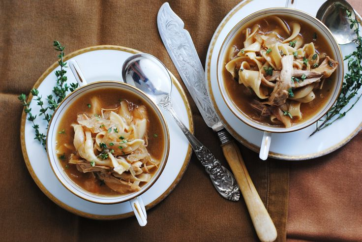 caramelized onion chicken soup. any excuse to eat caramelized onions