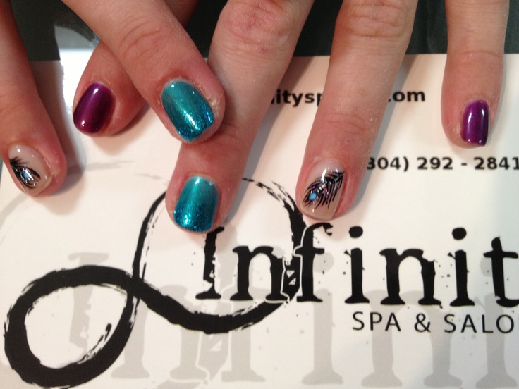 nails hand painted at Infinity Spa and Salon in Morgantown, WV