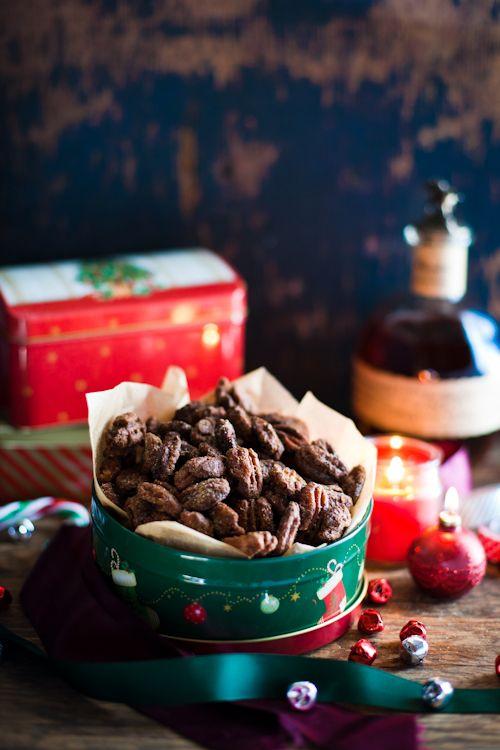 Bourbon Kissed Spicy Pecans | OMG Food | Pinterest