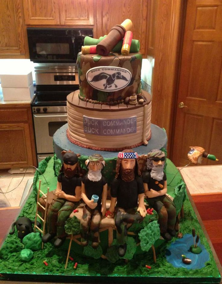 Duck Dynasty cake by Lydia Scarvey @ Delectable Edibles & More, Dothan, AL
