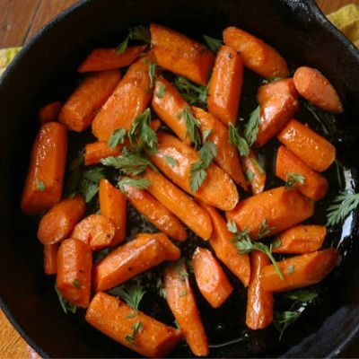 Whiskey-Glazed Carrots Recipe — Dishmaps