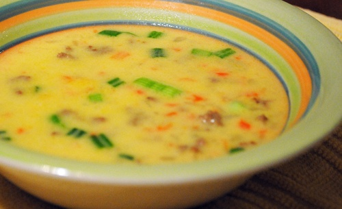 Cheeseburger Chowder recipe....Smokey Row (Des Moines, Ia coffee house) right in my own home!