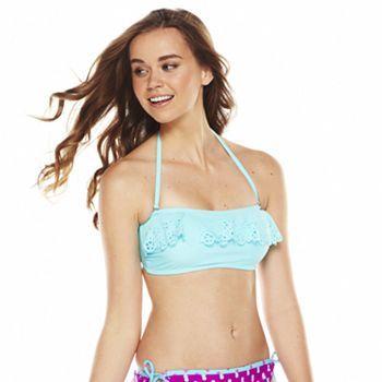 SO Laser-Cut Bandeau Bikini Top