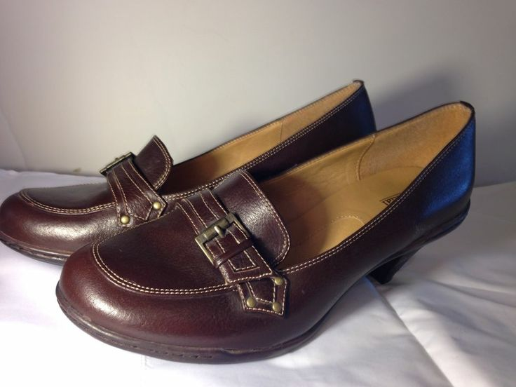 Bjorndal Shoes Krissy Brown Buckle Heels Size 9 9M #Fashion #Style