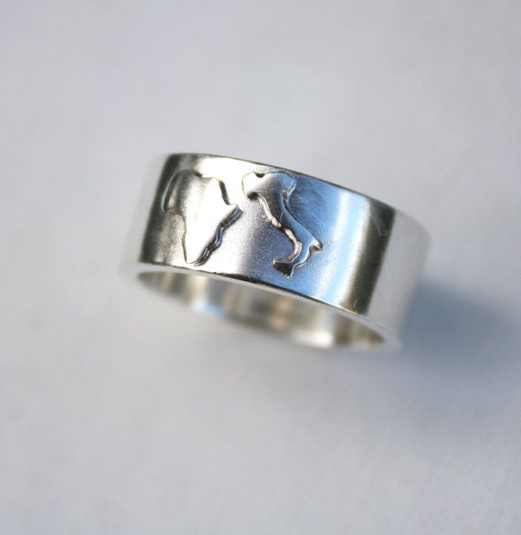 custom country ring customized jewelry unique mens by LolaAndCash,  ...