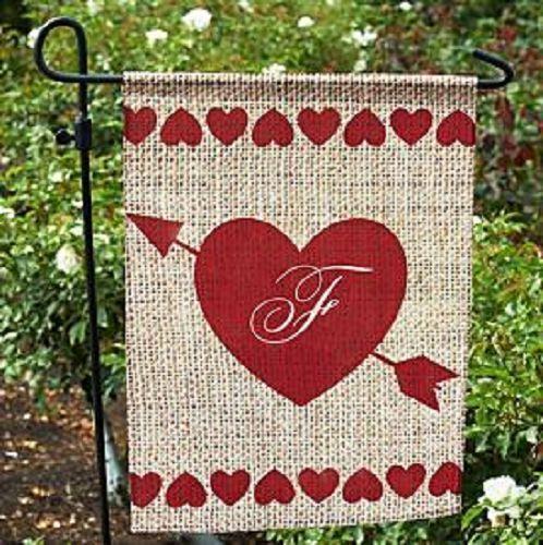 valentines garden flag