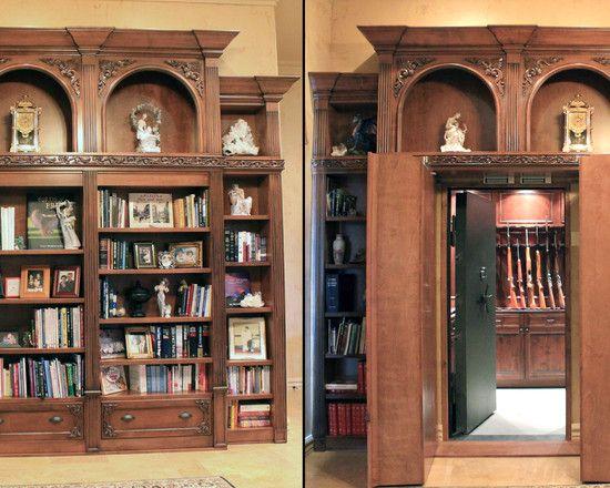 Hidden Gun Rooms and Vault Rooms.  by Creative Home Engineering.
