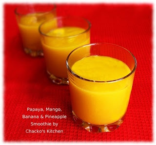 ... Papaya/Pineapple Lassi 1/2 cup frozen pineapple chunks 1/2 cup plain