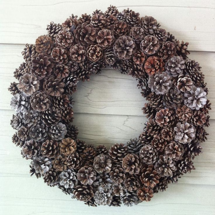 Monday Musings - Pinecone Wreaths  Allnatural