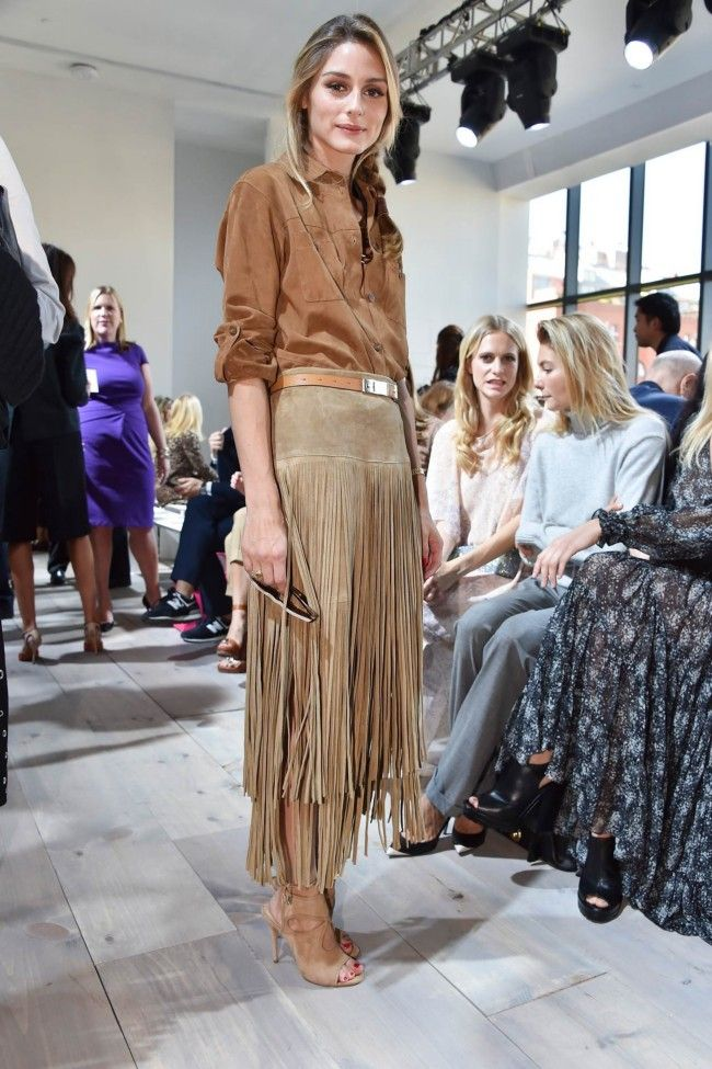 Olivia Palermo - Front Row At Michael Kors Spring 2015 show #nyfw