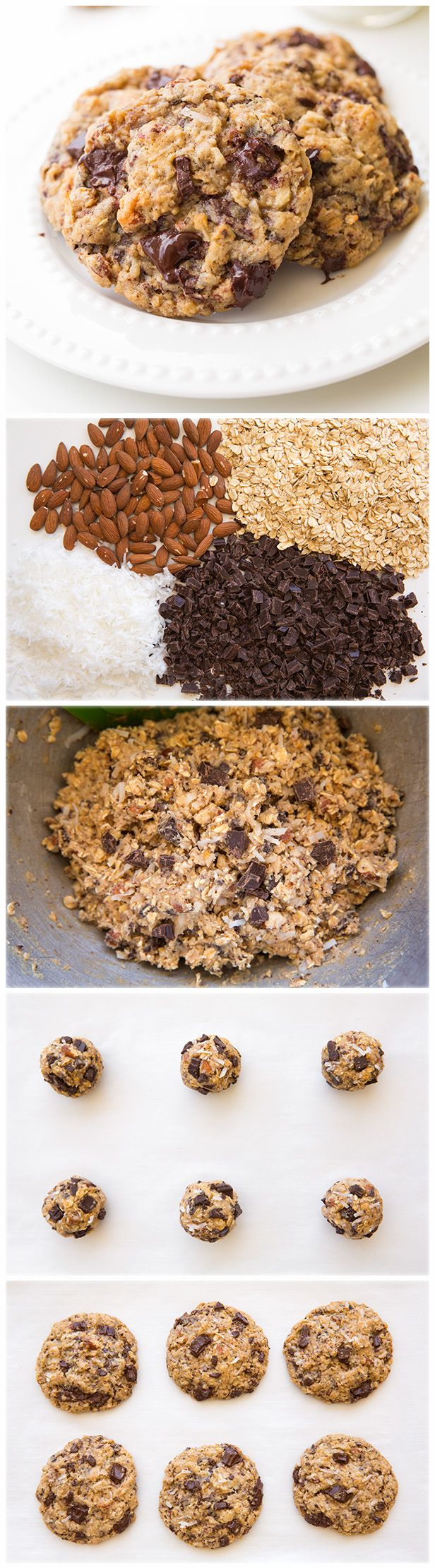 Oatmeal Coconut Almond Chocolate Chunk Cookies - AMAZING to say the ...