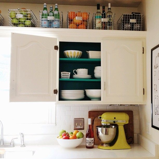 Painting Inside Kitchen Cabinets Photo Decorating Inspiration