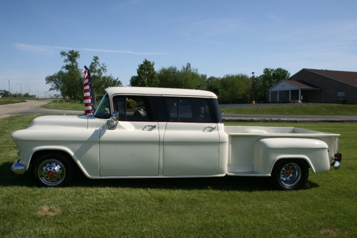 1957 chevrolet 4 door truck cars pinterest