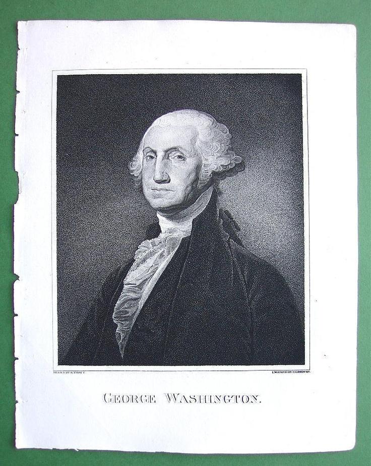 George washington antique prints pinterest