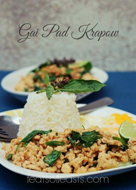 AFF Thailand – Gai Pad Krapow (Thai Basil Minced Chicken) | Feats of ...