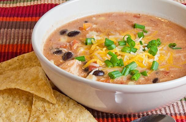 Quick and Easy Chicken Enchilada Soup