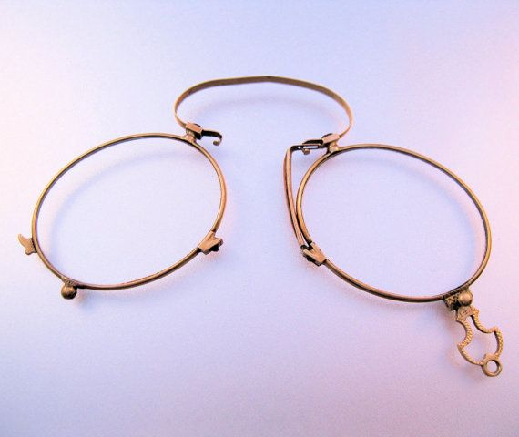 1800s Victorian 14K Solid Gold Pince Nez Folding Eye ...