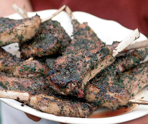 Grilled Lamb Rib Chops with a Rosemary & Sage Crust   Recipe