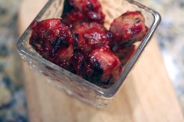 turkey meatballs with sage, caramelized onion and cranberry glaze # ...