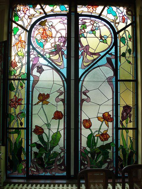 Art nouveau stained glass vetri colorati pinterest for Nouvelle deco maison