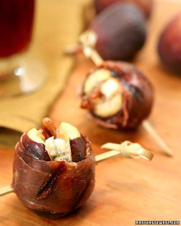 Grilled Prosciutto-Wrapped Figs with Blue Cheese and Pecans | Recipe