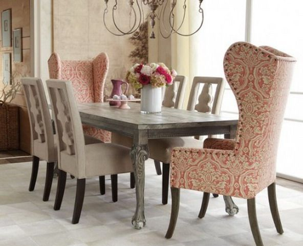 Shabby chic dining table set dining room pinterest - Shabby chic dining table sets ...