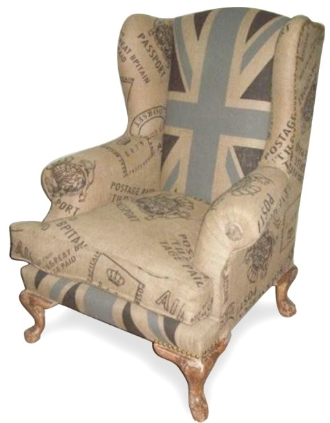 Vintage Union Jack Wing Back Chair
