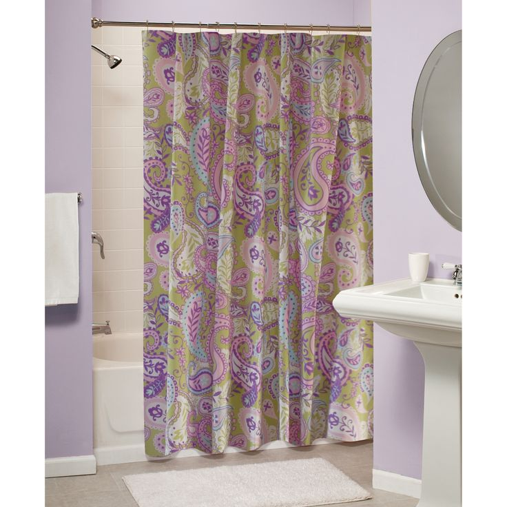 pastel elegance to your daily shower with this paisley shower curtain ...