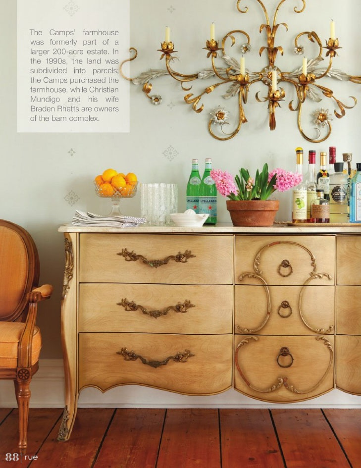 this side board (chest of drawers) and the sconce above it are special!
