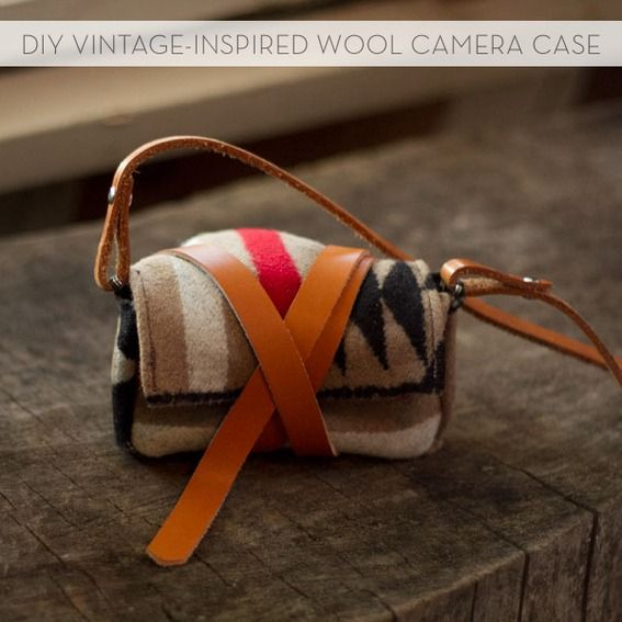 How to make a vintage-inspired wool and leather camera case/bag!