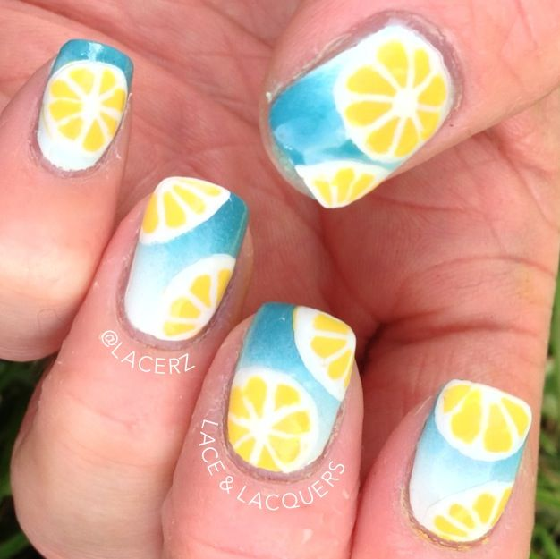 how to clean nails with lemon