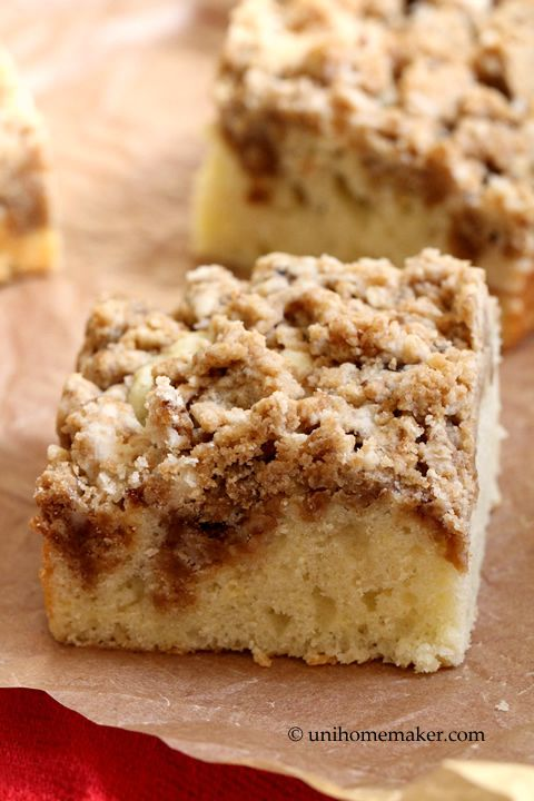 New York-Style Crumb Cake... | Sweets For The Sweet | Pinterest