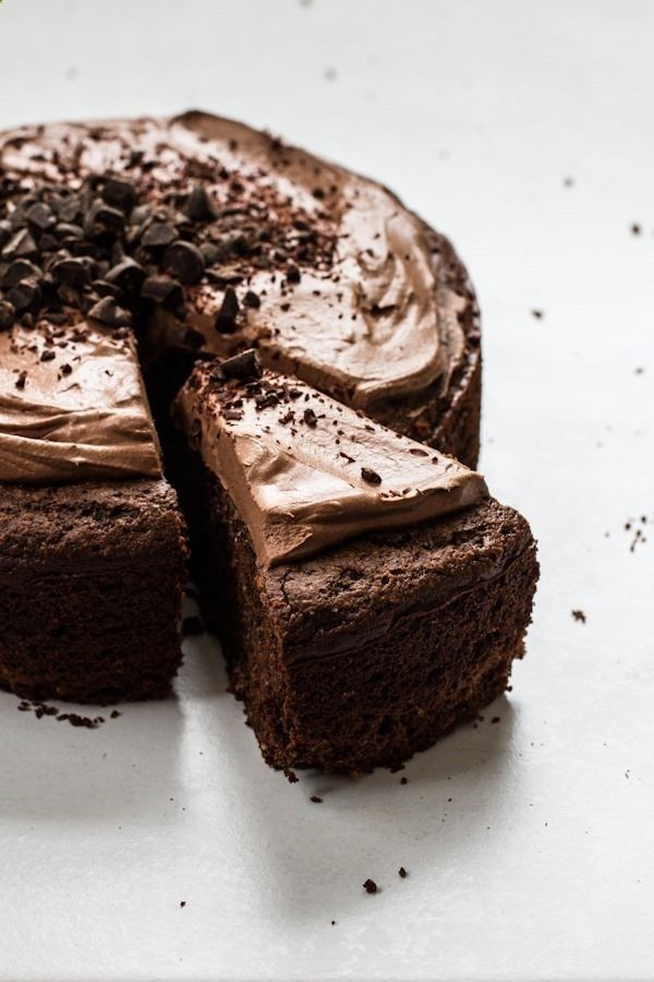 Chocolate Almond Meal Cake with Chocolate Whipped Frosting | http ...