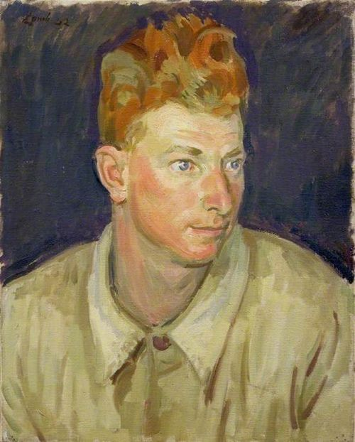 Henry Lamb (British, 1883-1960), Gunner W. C. Macaloney, Royal Canadian Artillery, 1942. Oil on canvas, 50.8 x 40.6cm. Imperial War Museums.