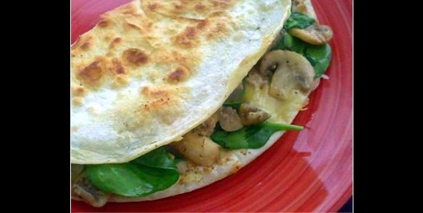 Mushroom, Spinach and Gouda Quesadillas | Edible Fancies | Pinterest