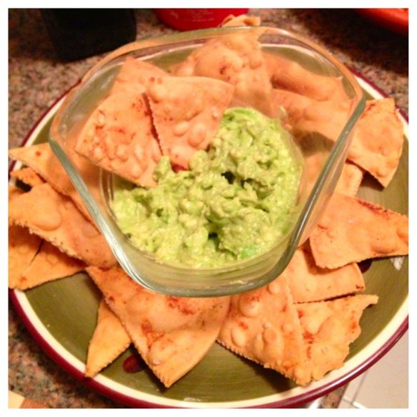 Crab And Avocado Dip On Tortilla Chips Recipe — Dishmaps