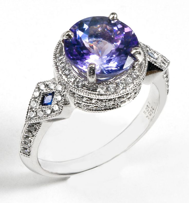 tanzanite engagement ring diamonds are a girls best. Black Bedroom Furniture Sets. Home Design Ideas