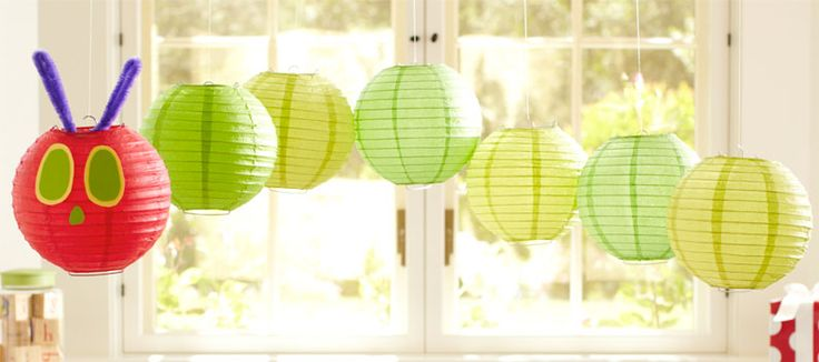 How-to create a paper lantern caterpillar mobile for your next party.