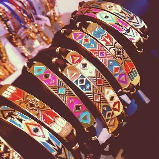 Aztec bracelets. Love...