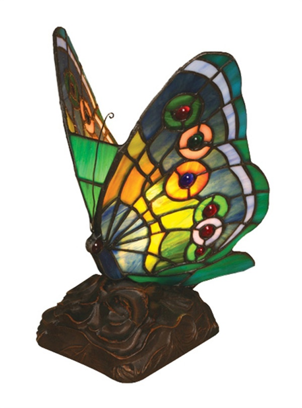 butterfly stained glass night lamp stunning stained glass pintere. Black Bedroom Furniture Sets. Home Design Ideas