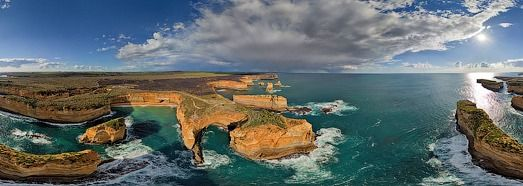The Twelve Apostles, Australia • 360° Aerial Panorama - click and then play it - it's beautiful!