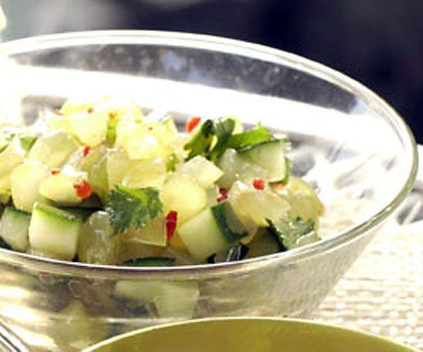Cucumber-Grape Salsa (for grilled chicken) #salsa #salsadips # ...