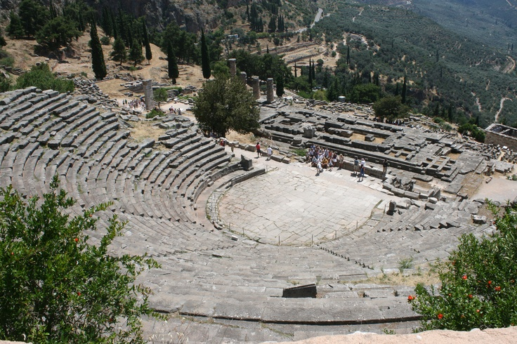 The Ancient Theatre, Delphi, Greece  Delphi  Pinterest